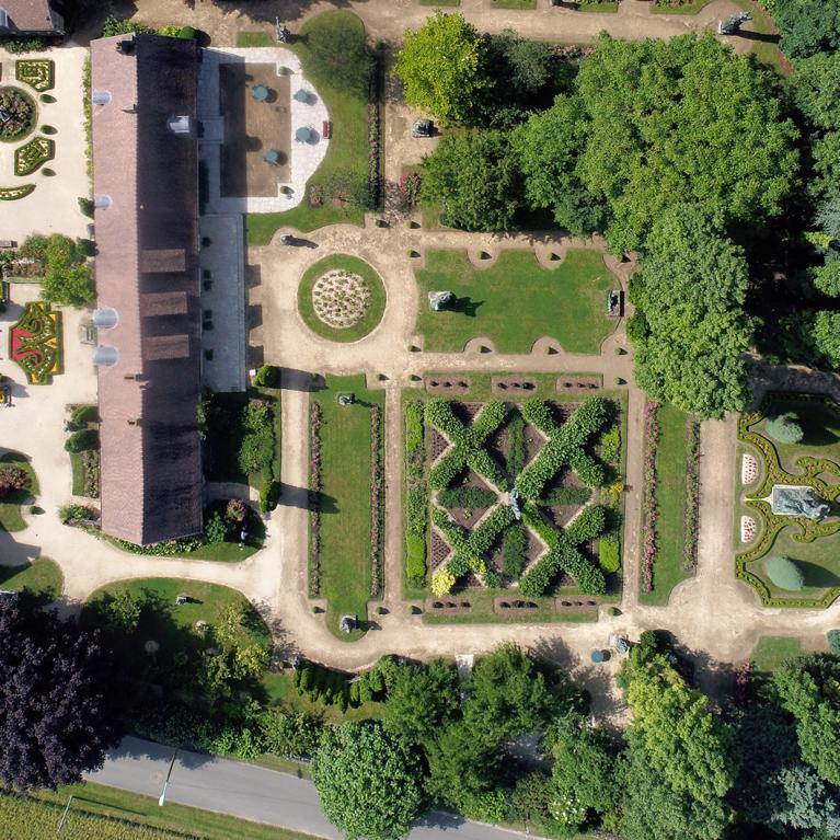 Vue aérienne du musée jardin Bourdelle